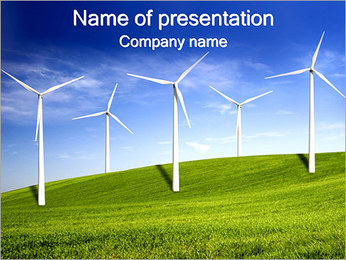 Wind Turbines Farm PowerPoint Template