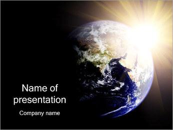 Terre depuis l'espace Modèles des présentations  PowerPoint