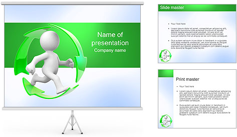 Running and Recycling PowerPoint Template