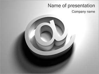 AT Symbol PowerPoint Template