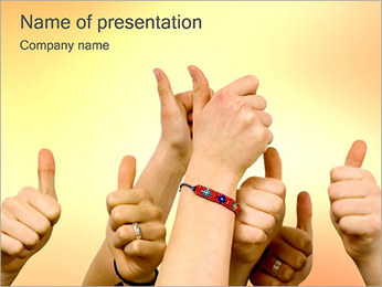 OK Sign PowerPoint Template