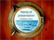 Båt Porthole PowerPoint presentationsmallar