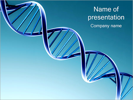 DNA Spiral PowerPoint Template, Backgrounds & Google Slides - ID ...