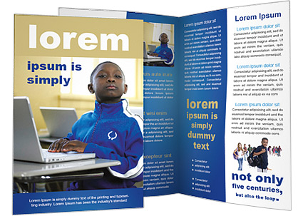 Boy with Laptop Brochure Template