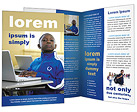 Boy with Laptop Brochure Templates