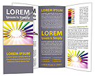Color Pencils Brochure Templates