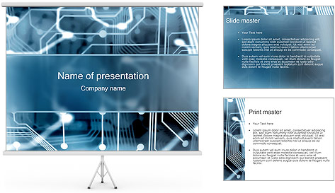 Electronic Circuit PowerPoint Template