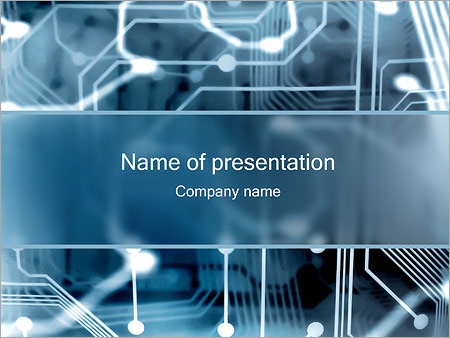 electronic circuit powerpoint template & backgrounds id 0000001420, Powerpoint templates