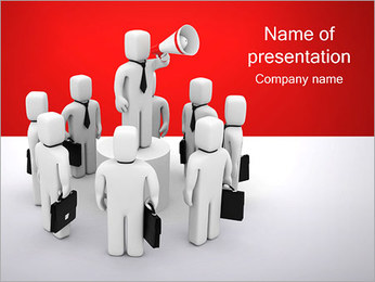 Business Speak PowerPoint Template - Slide 1