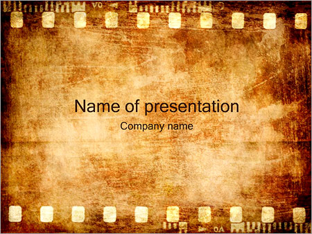 old film strip powerpoint template & backgrounds id 0000001428, Powerpoint templates