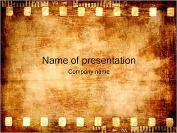 Oude Film Strip Sjablonen PowerPoint presentatie