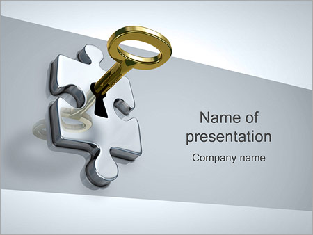 Puzzle with key powerpoint template backgrounds google slides puzzle with key powerpoint template toneelgroepblik Image collections