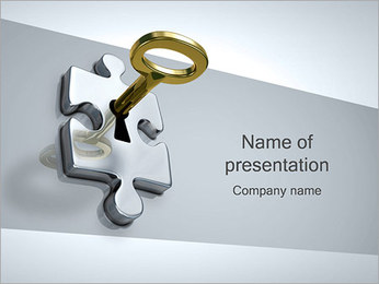 Puzzle with Key PowerPoint Template