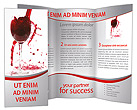 Red Wine Splashing Brochure Templates