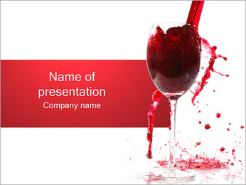 Red Wine Splashing I pattern delle presentazioni del PowerPoint