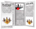 Gold Businessman Brochure Template