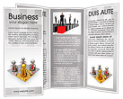 Gold Businessman Brochure Templates