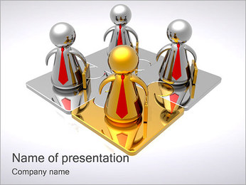 Gold Businessman PowerPoint Template