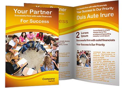 Student Seminar Brochure Template