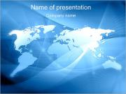 Abstract World Map Sjablonen PowerPoint presentaties