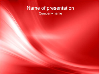 Abstract Red Wave Plantillas de Presentaciones PowerPoint