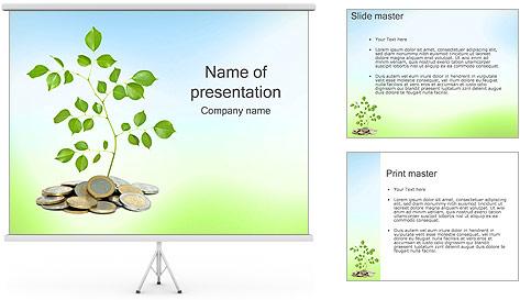 Money Tree Euro PowerPoint Template