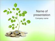 Money Tree Euro Sjablonen PowerPoint presentaties