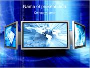Monitors with Info PowerPoint Templates