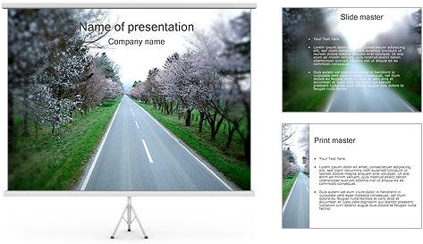 Spring Road Modèles des présentations  PowerPoint