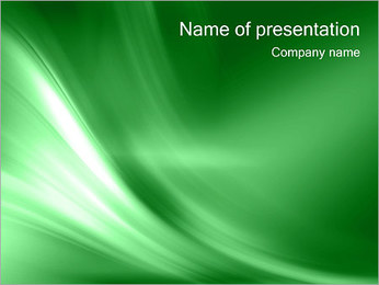 Abstract Green Wave Sjablonen PowerPoint presentatie