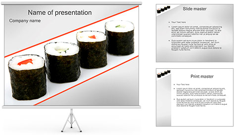 Sushi Seafood PowerPoint Template