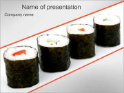 Sushi Seafood PowerPoint Templates