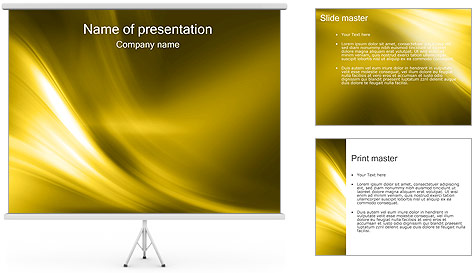 Golden Design PowerPoint Template