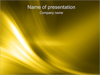 Golden Design PowerPoint Template - Slide 1