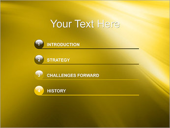 Golden Design PowerPoint Template - Slide 3