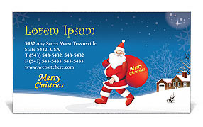 Christmas business card template design id 0000001469 christmas business card template wajeb Image collections