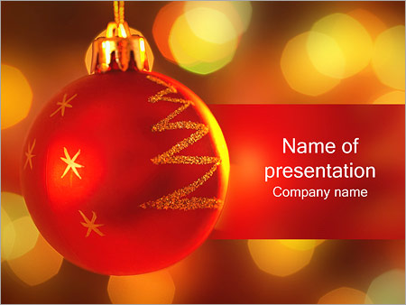 holiday decoration powerpoint template & backgrounds id 0000001472, Modern powerpoint