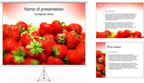 Fraise Modèles des présentations  PowerPoint