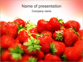 Strawberry PowerPoint Template