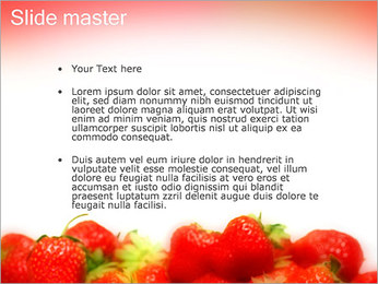 Fraise Modèles des présentations  PowerPoint - Diapositives 2