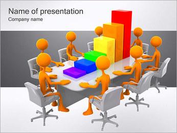 Relatórios de Negócios Modelos de apresentações PowerPoint - Slide 1