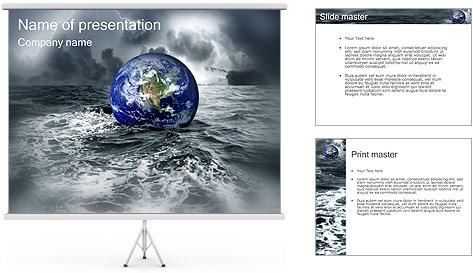 Grand Déluge Modèles des présentations  PowerPoint