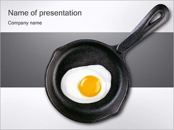 Fried Egg in Pan PowerPoint Template