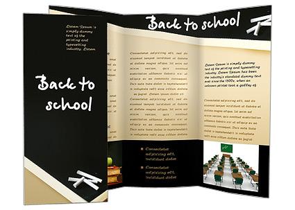 Retour à l'école des mots Les brochures publicitaire