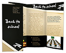 Back to School Words Brochure Template