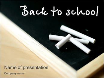 Volver a la escuela de las palabras Plantillas de Presentaciones PowerPoint