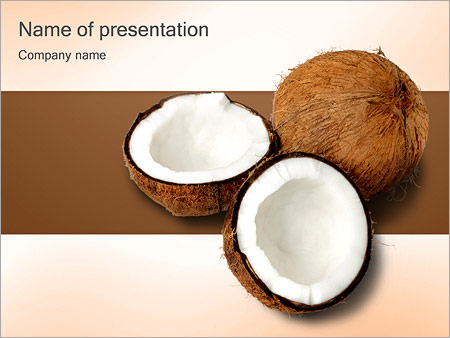 Coconuts powerpoint template backgrounds id 0000001494 coconuts powerpoint template toneelgroepblik Gallery
