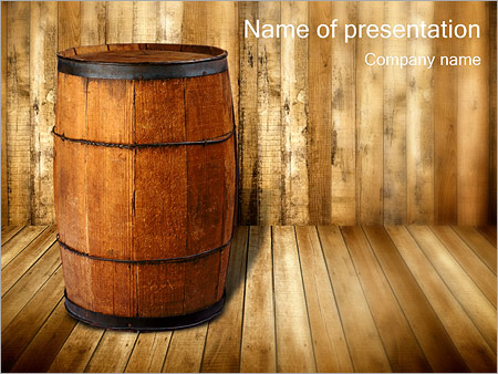 Wooden barrel powerpoint template backgrounds id 0000001499 wooden barrel powerpoint templates toneelgroepblik Images