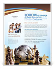 Globe Puzzle and Chess Flyer Template
