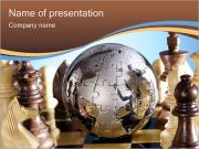 Globe Puzzle and Chess PowerPoint Templates